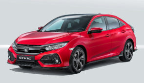 Honda Civic hatchback nu op foto