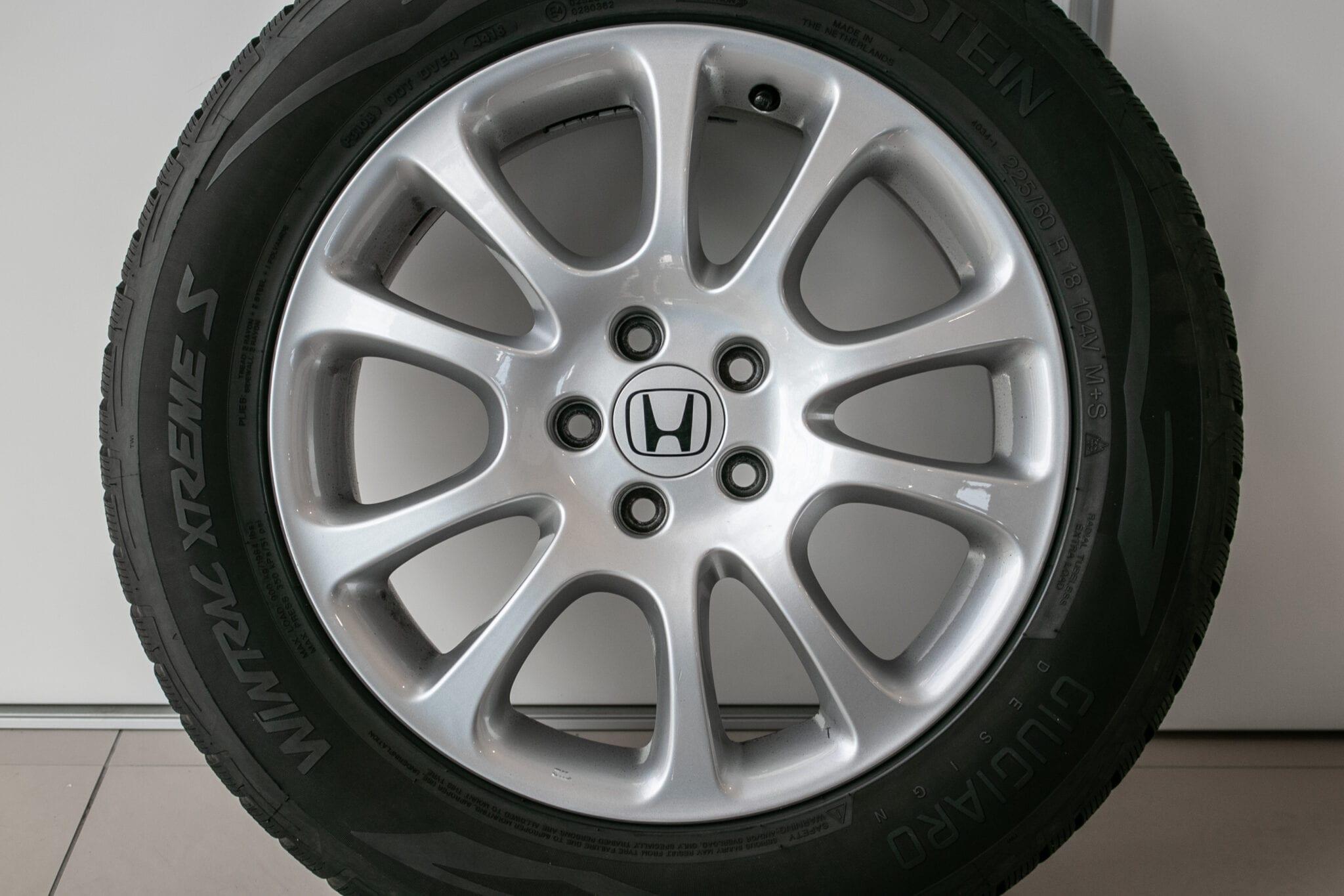 """18"""" Winterwielen voor de Honda CR-V ('07-'17) €499,- Gebruikt. Profieldiepte: 6mm - 6.5mm"""